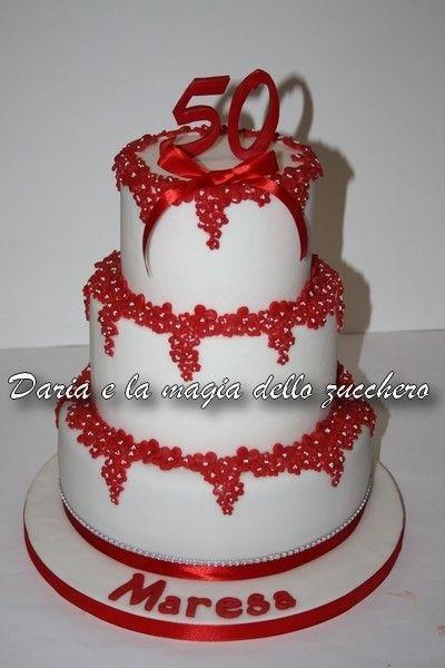 Torta 50 anni donna 50 th birthday cake woman