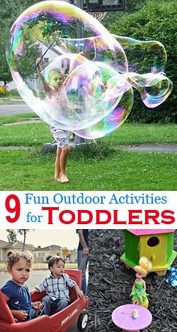 These are great ideas for activities for toddlers, specially with summer coming up soon :D