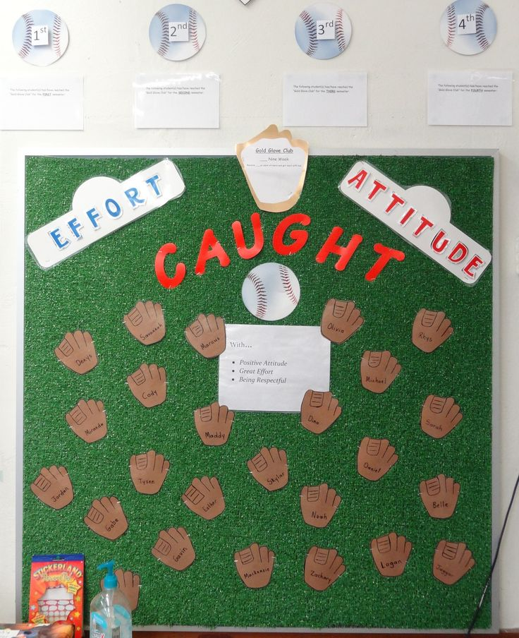 Baseball bulletin board for behavior management - @Alex Lee
