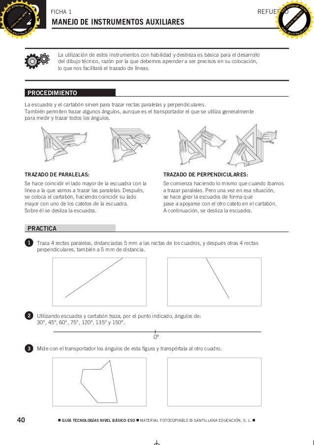 Procedimiento La Escuadra Y El Cartabón Sirven Para Trazar Rectas Paralelas Y Perpendiculares También Permiten Trazar Al Geometry Crafts Map