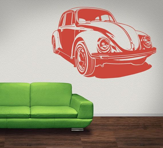 Wall Decal Volkswagon Bug Beetle Car Nostalgic by WallStarGraphics, $50.00