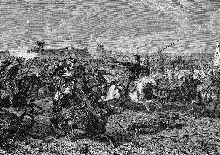 Les gardes d'honneur au combat de Reims, le 13 mars 1814