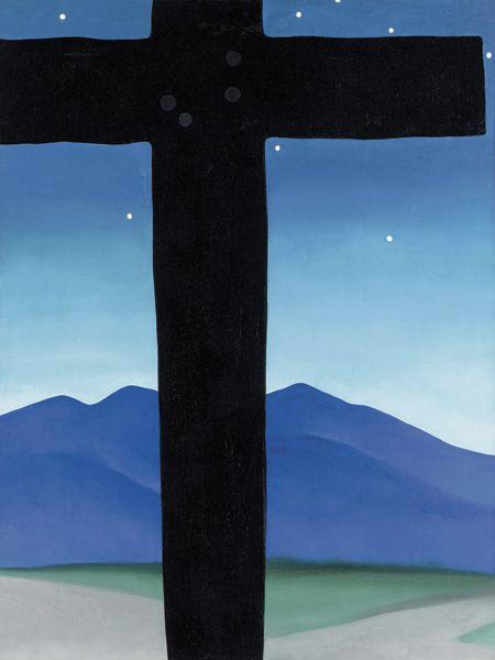 Black Cross with Stars by Georgia O'Keeffe