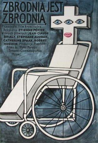 Poster Plakat Jerzy Flisak zbrodnia jest zbrodnią