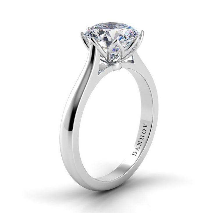 Danhov Tulip Basket Engagement Ring