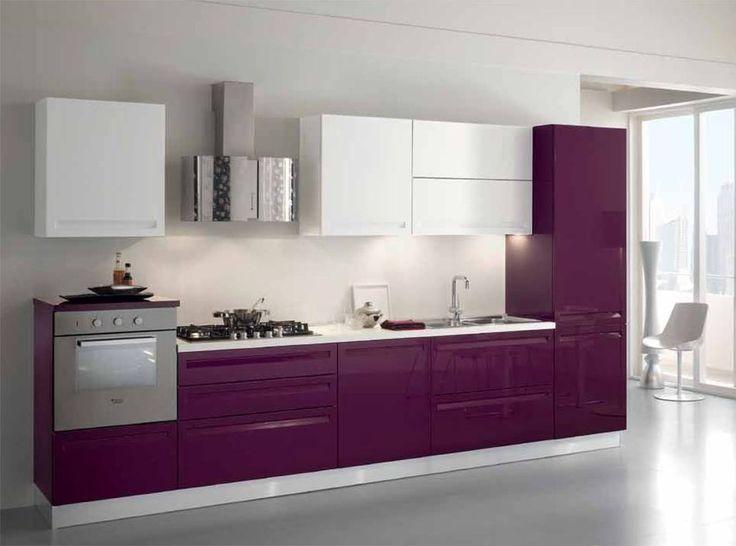 Anima tu cocina con un dise o en tonalidades moradas for Cocinas modernas moradas