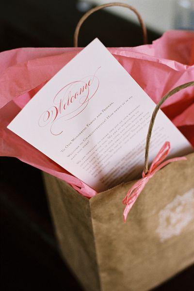 sweet welcome bag | Jen Fariello #wedding