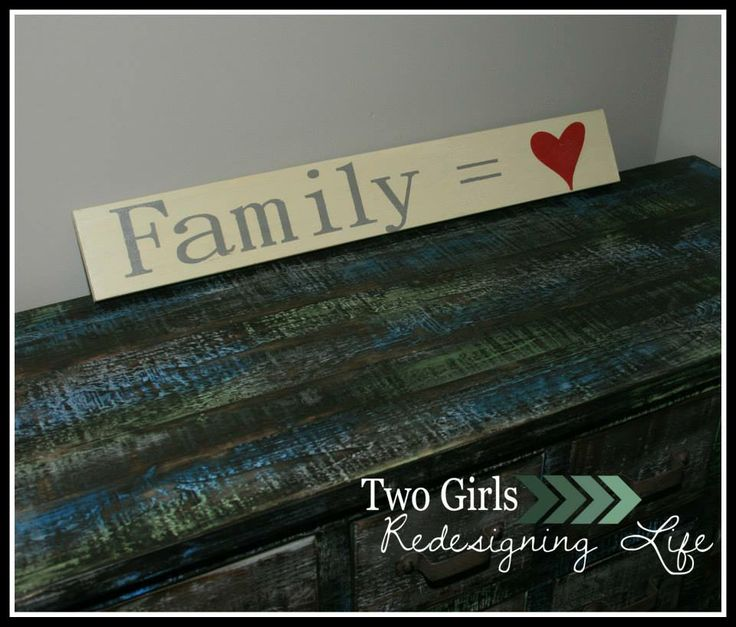 Two Girls Redesigning Life: Family = Heart Sign
