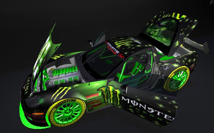 """Chevrolet Corvette C6 Z06-R Ltd. Exclusive limited edition """"Monster Energy"""" - 20 units only! NEW NOW 25 THEME"""