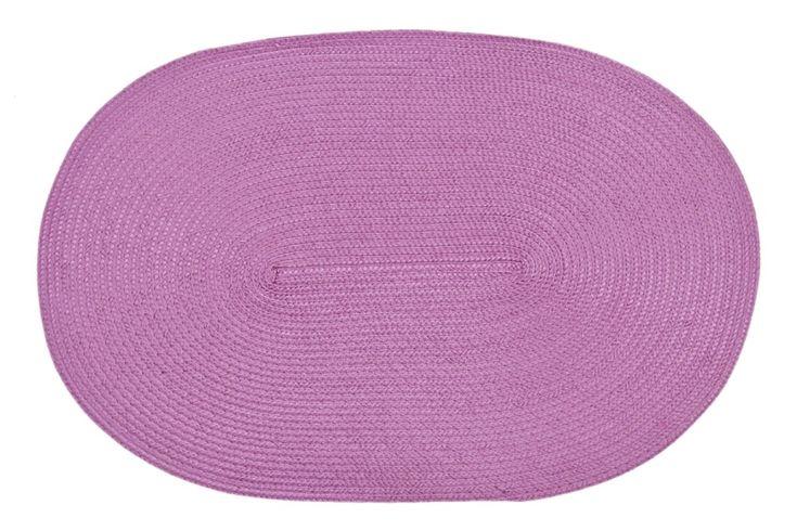 Oválné prostírání pod talíře růžové barvy