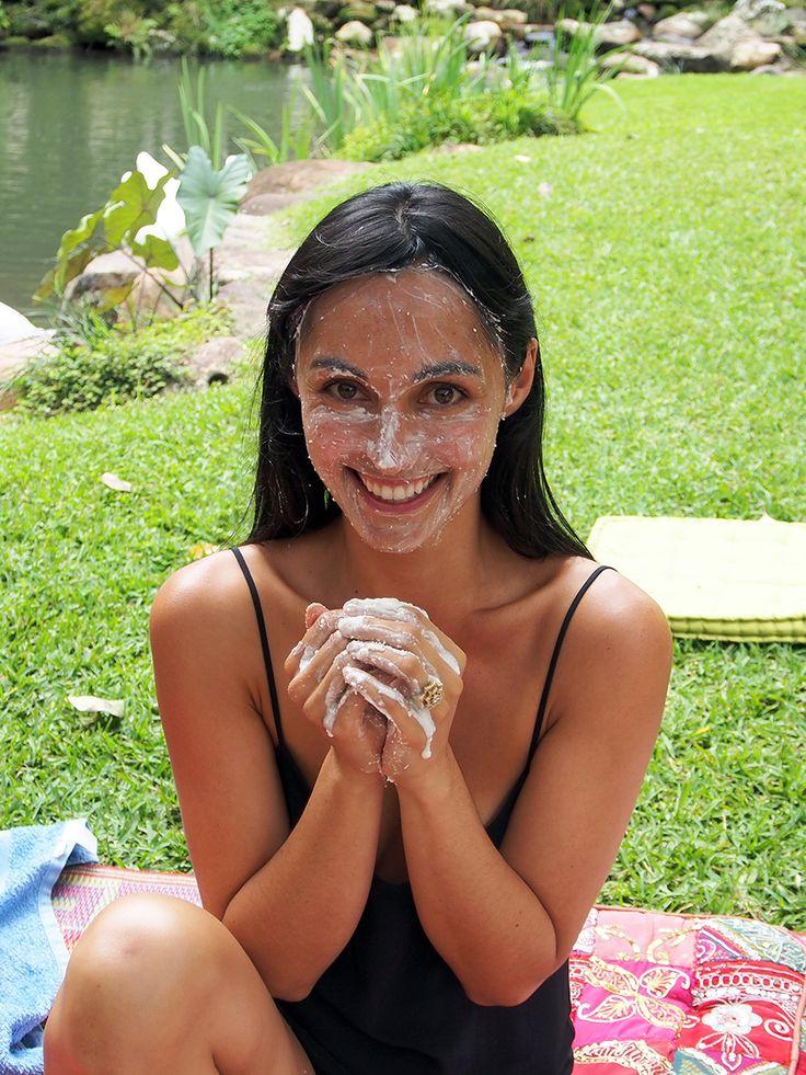 Organic homemade face scrub at the OM Cleanse retreat Byron Bay