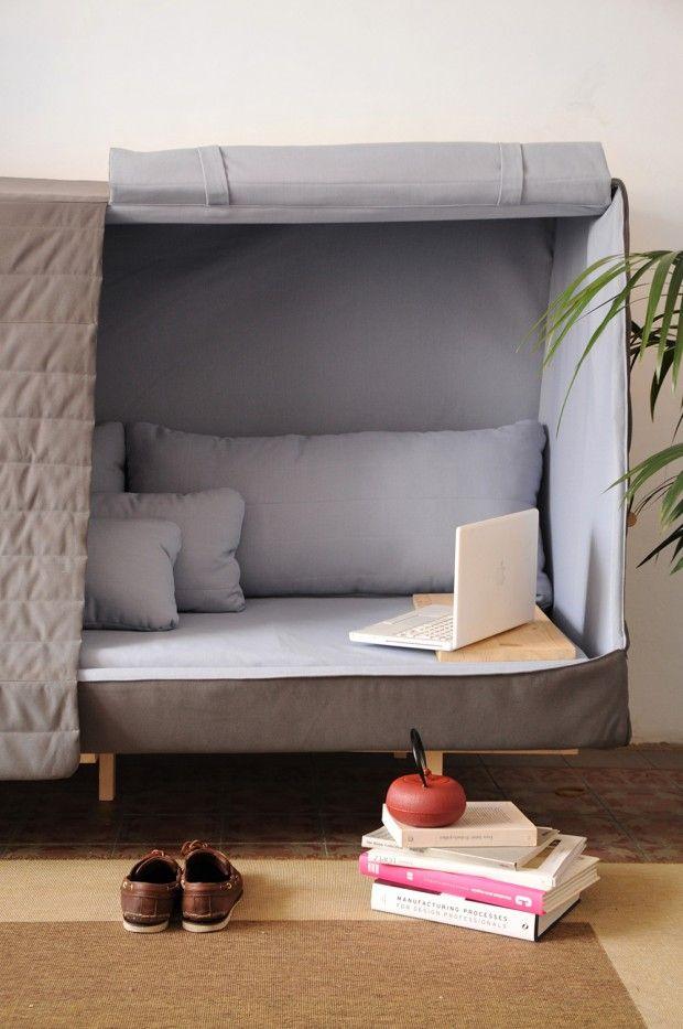 Le canapé-lit-cabane! - Studio Goula / Figuera - Barcelone.