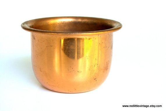 Small Vintage Copper Pot for kitchen decor or home decor, home design
