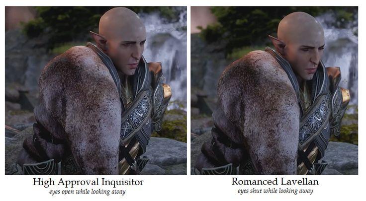 Solas conversation in Trespasser DLC - Five screenshot comparisons and poster's comments