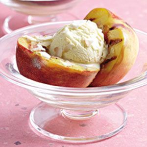 Grilled Peach Sundaes: Grilling Recipes, Peach Sundaes, Dessert Recipes, Grilled Peaches, Sweet Treats, Ice Cream, Sundaes Recipe, Healthy Food