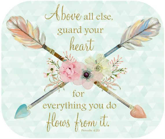 proverbs 4:23 | Guard Your Heart Mouse Pad, Proverbs 4:23 Scripture Mouse Pad ...