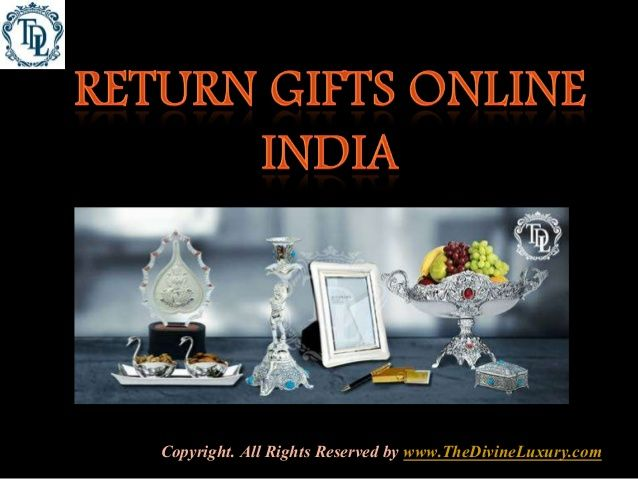 Buy return gifts online and make the celebration grander. You will find gift for house warming to gifts for birthday and many other occasions. Get return gift online by return gift online shopping at The Divine Luxury.With return gift we do return the hint to our guest that they are important to us and their presence in party was special. Giving return gift is the best way to flow the gratitude for their coming in our party with the healthy wishes and making our happiness double.