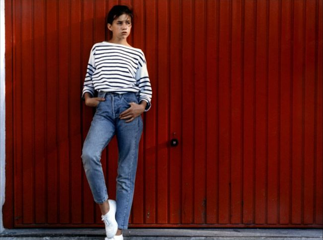 Charlotte Gainsbourg in stripes