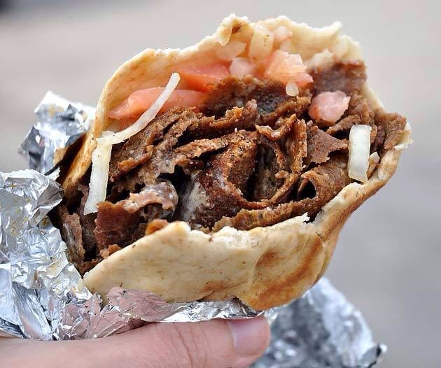 Donair Recipe 1 tsp salt 1 tsp oregano 1 tsp flour ½ tsp pepper ½ tsp Italian seasoning ½ tsp garlic ½ tsp onion  ¼ tsp cayenne pepper 1/2 kg beef Sauce 1 can of evap milk ¾ c  sugar 2 tsp garlic pdr 4 tsp vinegar oven 175 degrees C. Combine the meat and spices.Mix .  throw down meat with force 20 times kneading it after each throw.  Form it to a loaf pan. Bake of 1 hr 15 min Turn  halfway. chill overnight To make the sauce combine ingred. whisk in the vinegar 1 tsp at a time it thickens it