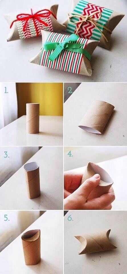Recycle your toilet rolls to little gift boxes.