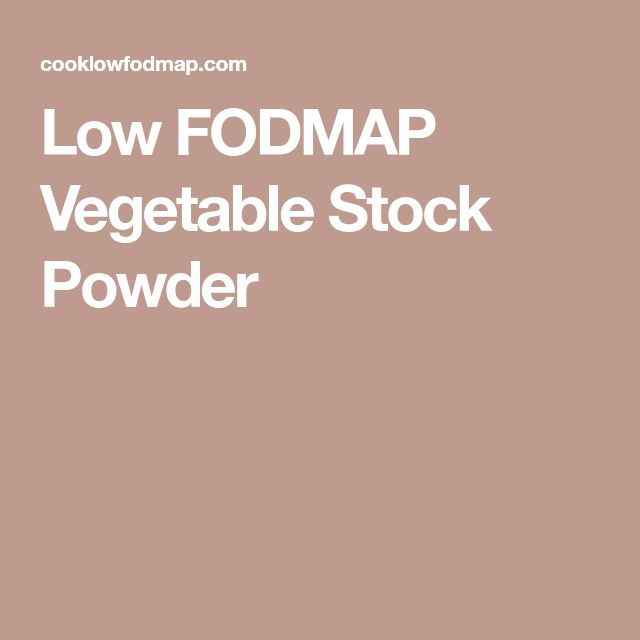 Low FODMAP Vegetable Stock Powder