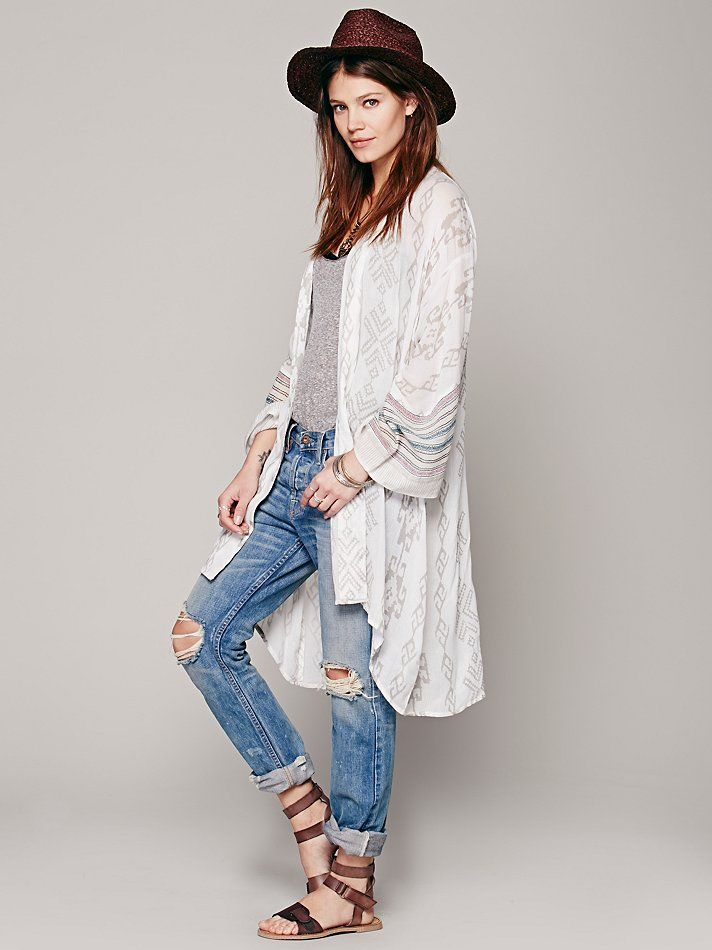 Free People Fp One Patterned Kimono Jacket Fashion Pinterest
