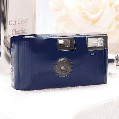 Navy Blue Disposable Wedding Cameras #wedding #disposableweddingcameras #navywedding