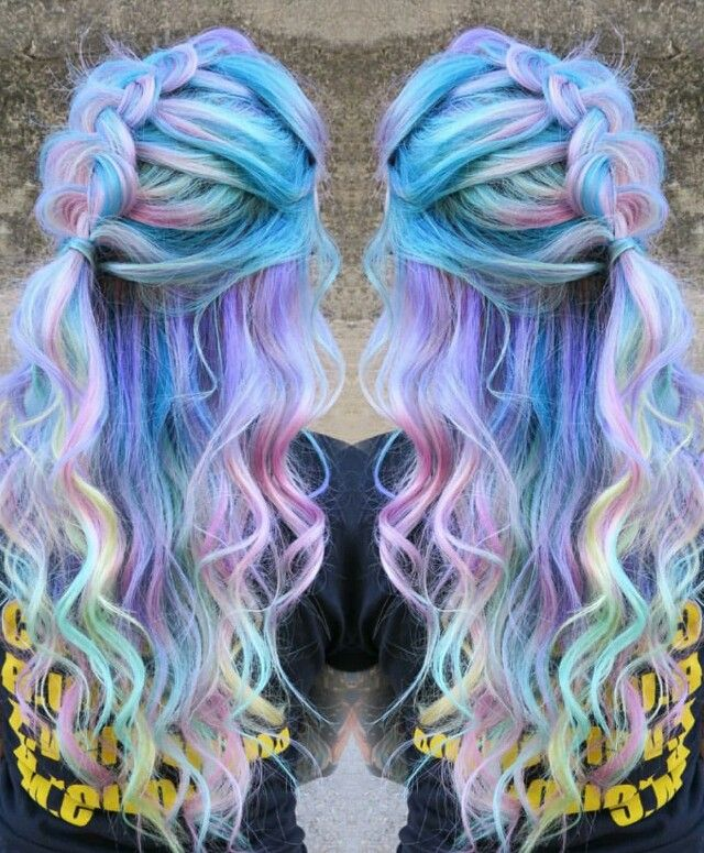 Pastel purple rainbow dyed hair @singi.vo.peters                                                                                                                                                                                 More