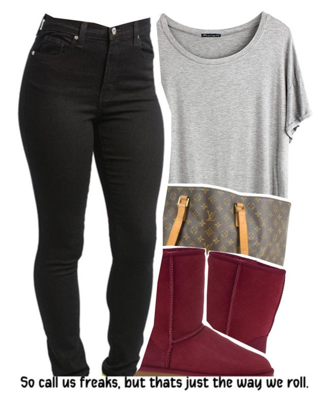 """""""Dope Sets   10-9-15"""" by sunnyhere7111 ❤ liked on Polyvore featuring Chicnova Fashion, Louis Vuitton and UGG Australia"""