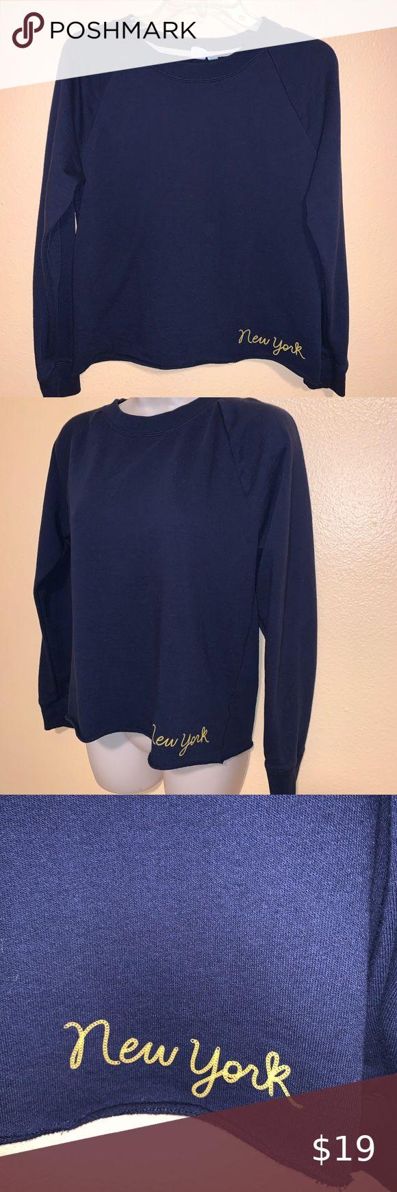 Gap Cotton Blnd Sweatshirt Top Navy S New York Sweatshirt Tops Sweatshirts Tops [ 1740 x 580 Pixel ]