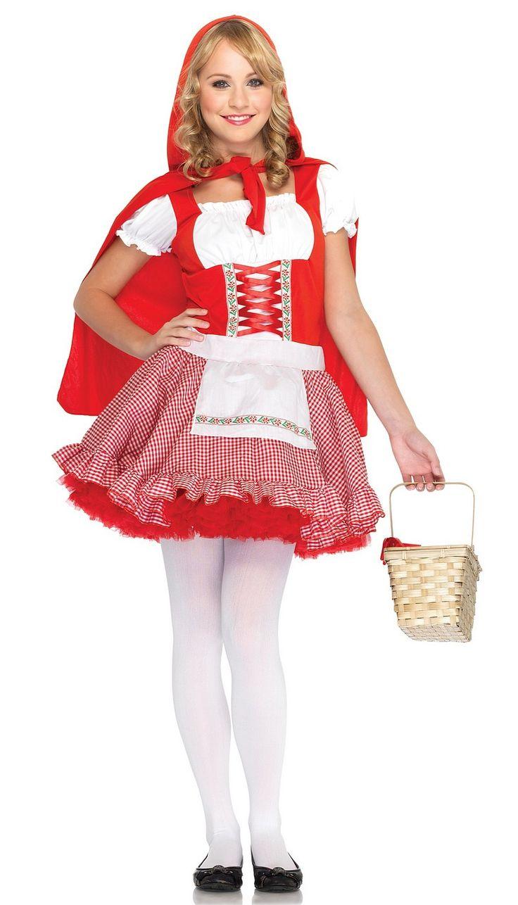 lilu0027 miss red riding hood junior teen tween girls halloween costume brand new
