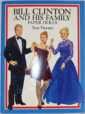 Bill-Clinton-and-His-Family-Paper-Dolls-collectible-book-Tom-Tierney