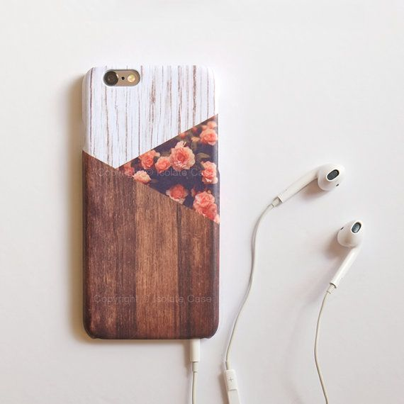 Rose Wood iPhone 6 case floral iPhone 5 flower by IsolateCase
