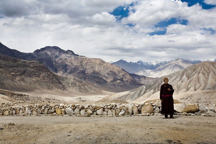 A Monk in Ladakh, India - Ladakh is a region of India in ...
