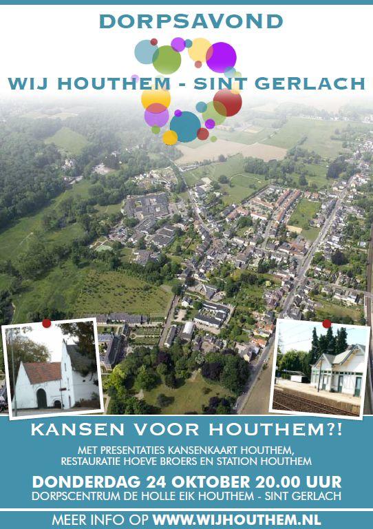 Poster dorpsavond 24 oktober