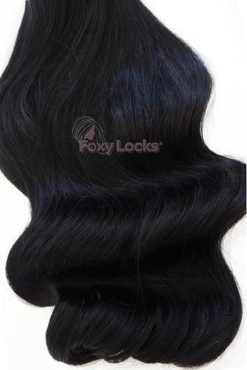 "Foxy Locks Superior Seamless 22"" Clip In Human Hair Extensions 230g 