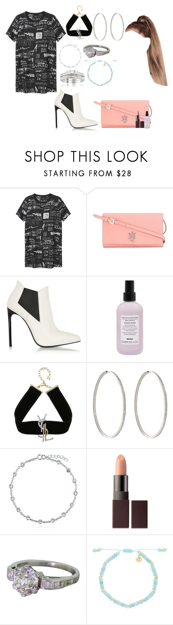"""The world can be a nasty place"" by moonlightbabby ❤ liked on Polyvore featuring Monki, Alexander McQueen, Yves Saint Laurent, Davines, Ambre Victoria, BERRICLE, Laura Mercier, Lola Rose and Montebello Jewelry"