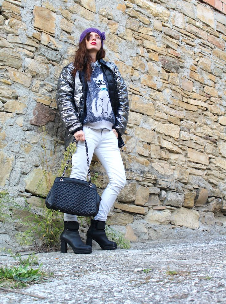 #winter #ootd #cold #streetstyle #fashion #knit #denim #white #sorel  #boots