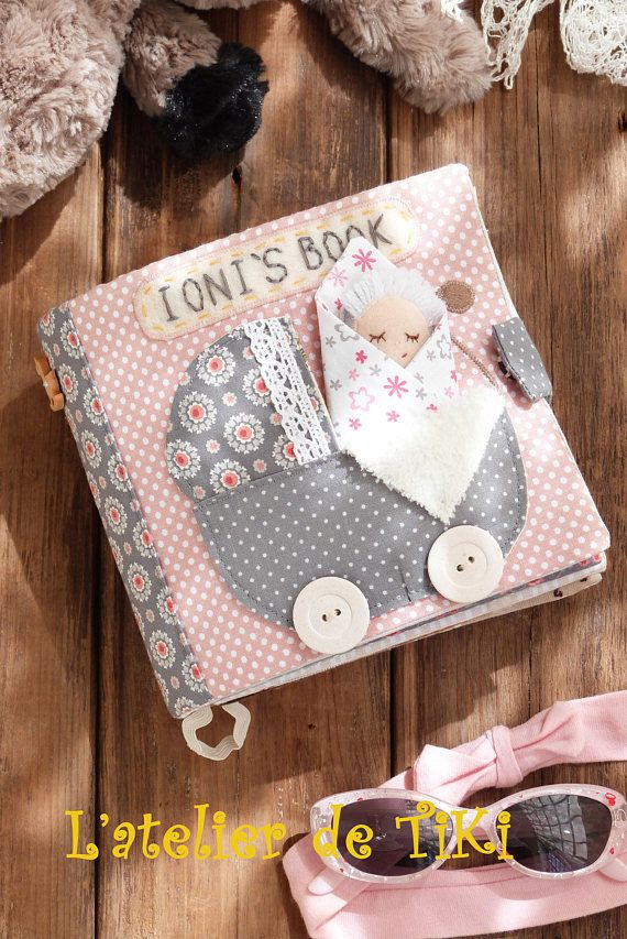 This quiet book is suitable for infants (girls) 12 and more months old. It's ideal for developing their fine motor skills, the feeling of color, shape, material. They learn how to deal with velcro, buttons and buttonholes, zip, to count, sort things by color, dress/undress a little