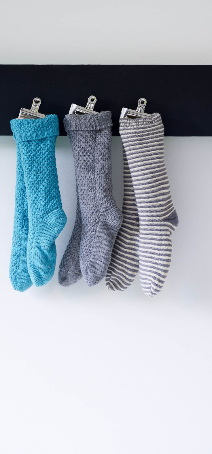 Cosy nights in call for a pair of our Striped Chunky Slipper Socks. Make good secret Santa gifts too!