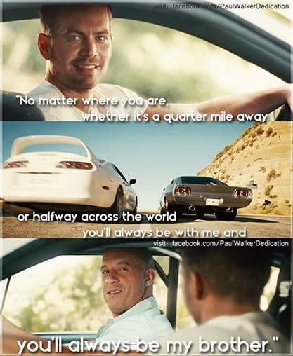 Furious Seven #ForPaul Fast and Furious Series will never be the same