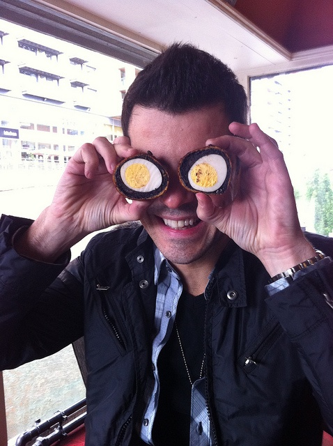 """Eggcellant!"" by Jordan Knight, taken by Joey McIntyre <3 hee!"
