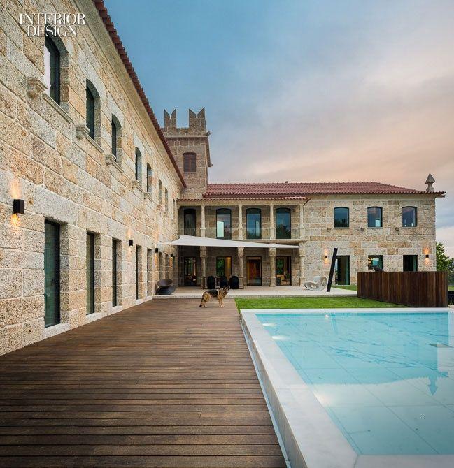 ES1Arq Renovates An 18th Century Portuguese Farmhouse RenovationFarmhouse DesignInterior Design MagazineWinter PhotographyPool