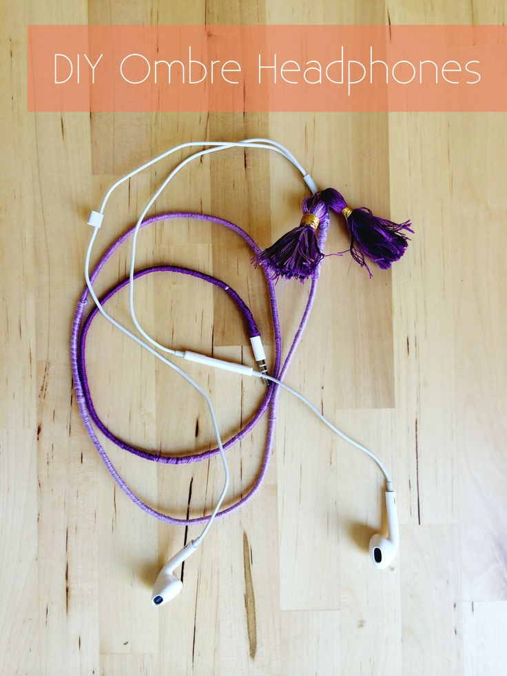 DIY Ombre Wrapped Headphones