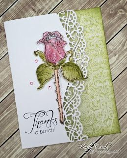 Thank you card made with @hcofficial stamps and dies. Made by Liz Gaze #heartfeltcreations