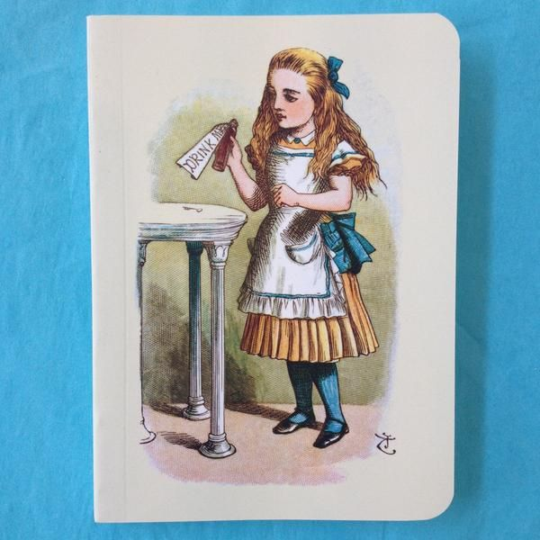 Mini notebook featuring Sir John Tenniel's illustration of Alice from the original 1865 release of Alice in Wonderland.  12.5 x 9cms Paperback 112 lined pages T