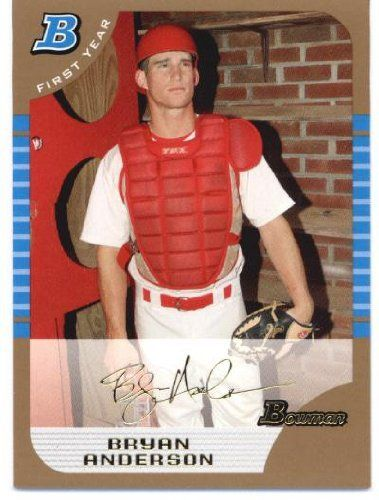 2005 Bowman Draft Gold 98 Bryan Anderson FY - St. Louis Cardinals (RC - Rookie Card Parallel) (Baseball Cards) -- Continue to the product at the image link.
