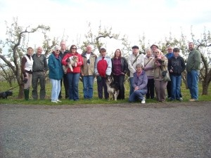 Members of the Worcestershire Support Group meet at one of their regular socials - this one a country walk where dogs are more than welcome!