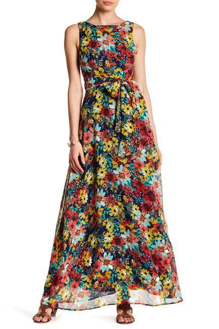 Image of Eva Franco Clarissa Printed Maxi Dress