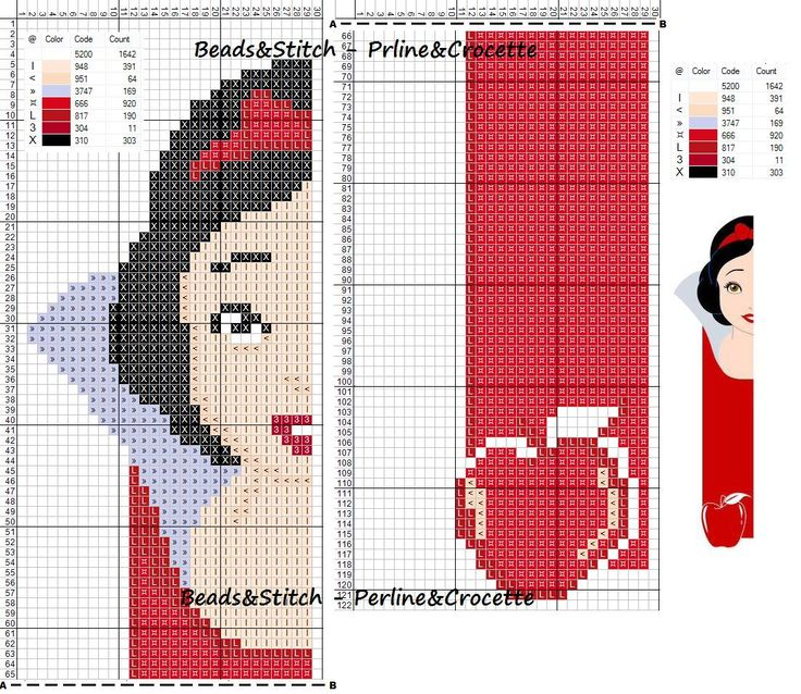 Snow White - Disney pattern                                                                                                                                                      More